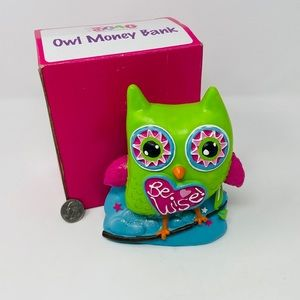 Owl Coin Piggy Bank New in Box